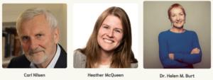 Carl Nilsen, Heather McQueen, Helen Burt